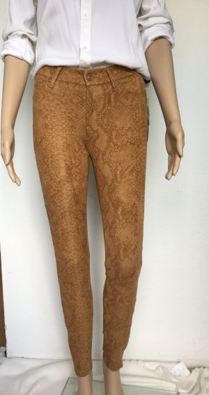 7 For All Mankind Pantalon cigarette cognac tissu mixte
