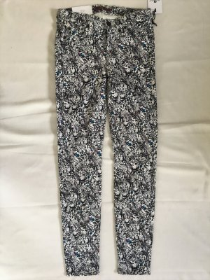7 For All Mankind Pantalon cigarette multicolore coton