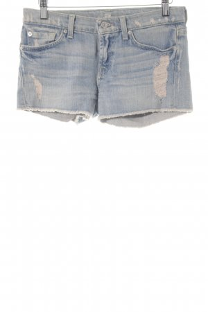7 For All Mankind Hot Pants blassblau Casual-Look