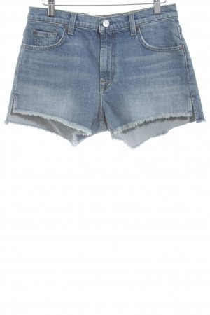 7 For All Mankind Hot Pants stahlblau Street-Fashion-Look