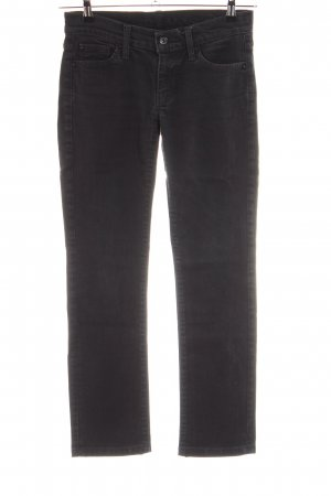 7 For All Mankind Jeans taille basse noir style d'affaires