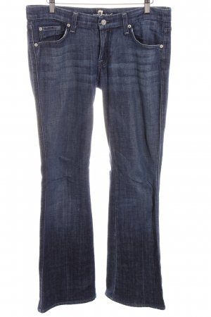 7 For All Mankind Hüftjeans blau Street-Fashion-Look