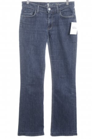 7 For All Mankind Hüftjeans dunkelblau Casual-Look