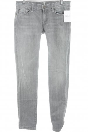 7 For All Mankind Low Rise Jeans grey-light grey weave pattern casual look