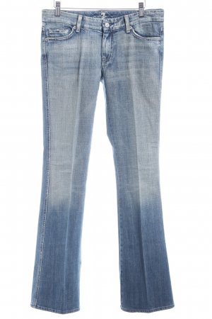 7 For All Mankind Hüftjeans graublau Casual-Look