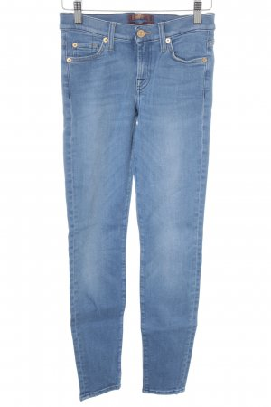 7 For All Mankind Hüftjeans himmelblau Casual-Look