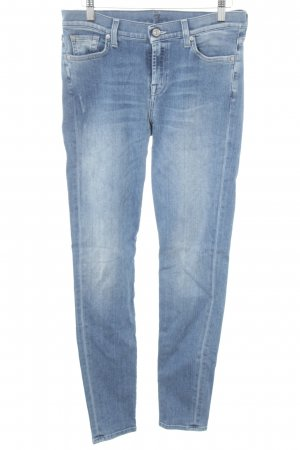 7 For All Mankind Hüftjeans kornblumenblau Destroy-Optik