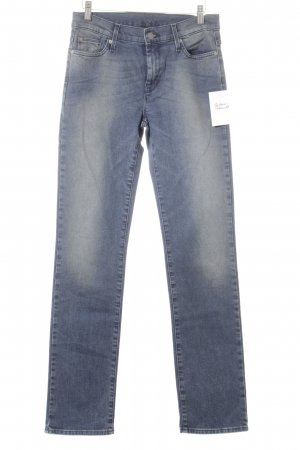7 For All Mankind Hüftjeans stahlblau Casual-Look