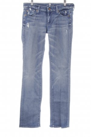 7 For All Mankind Low Rise jeans staalblauw glitter-achtig