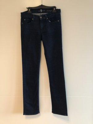 7 For All Mankind Jeans a gamba dritta blu scuro Tessuto misto