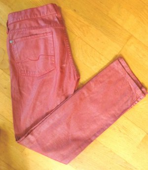 7 for all mankind Jeans 27 rot beschichtet