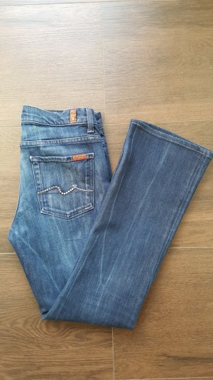 7 for all mankind Jeans 28 Strass/Glitzer Bootcut High Waist blau