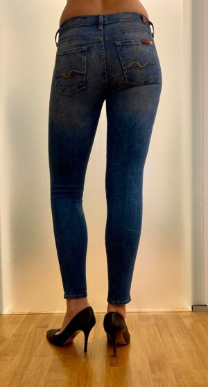 7 For All Mankind Vaquero skinny azul claro