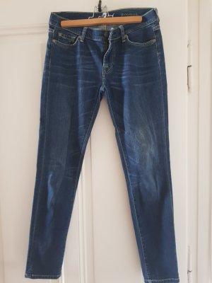 7 For All Mankind Drainpipe Trousers blue-dark blue