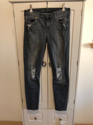 7 For All Mankind Vaquero pitillo multicolor