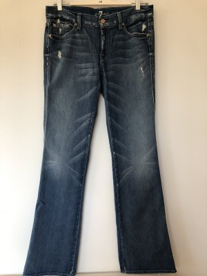 7 For All Mankind Jeans bootcut bleu acier