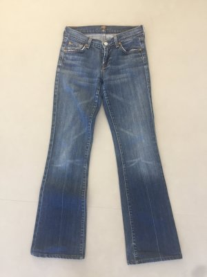 7 For All Mankind Jeans svasati grigio ardesia Cotone