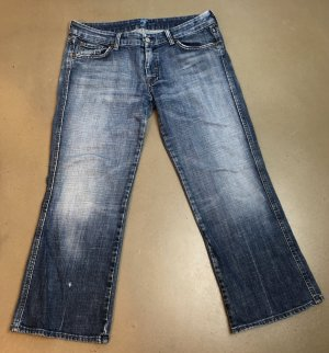 * 7 FOR ALL MANKIND * JEANS BOOTCUT CROPPED washed used look blau A - Pocket Gr 31 ( 40 )