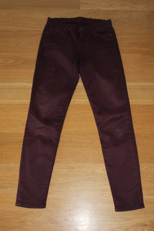 7 For All Mankind Pantalone bordeaux