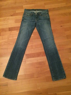 7 For All Mankind Slim jeans donkerblauw Katoen
