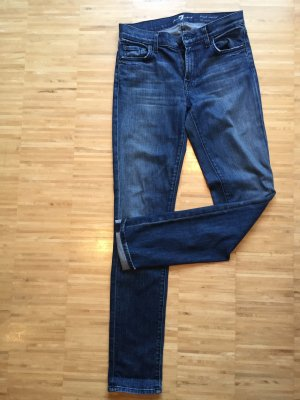 7 For All Mankind Vaquero rectos azul oscuro