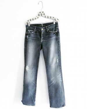 7 For All Mankind Jeans cornflower blue-white