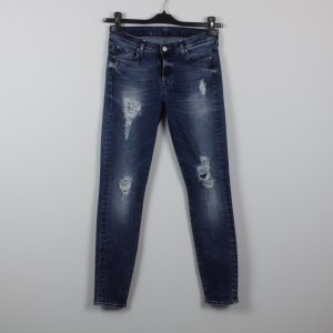 7 FOR ALL MANKIND Jeans Gr. 27 blau Used Look (18/11/287/E)