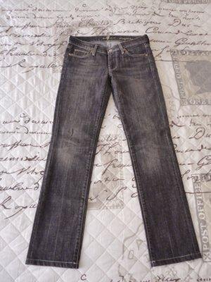 7 For All Mankind Jeans a gamba dritta grigio scuro-antracite Cotone