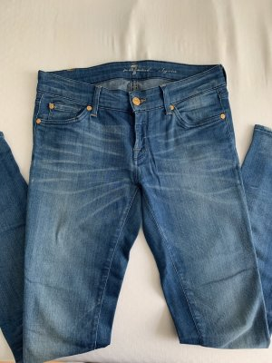 7 For All Mankind Vaquero pitillo azul