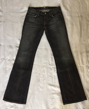 7 For All Mankind Boot Cut Jeans dark grey-anthracite cotton