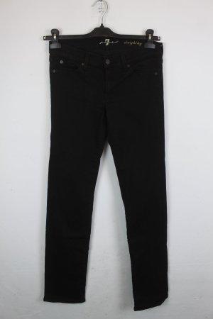 7 For All Mankind Jeans Gr. 29 Straight-Leg, schwarz (18/5/303)