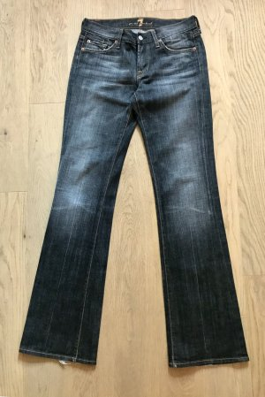 7 For All Mankind Jeans grau-schwarz