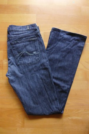 7 for all Mankind Jeans Hose bootcut blau dunkelblau Gr. 31 top