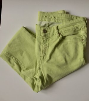 7 For All Mankind Jeans taille basse vert clair
