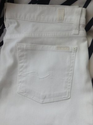 7 for all mankind jeans in weiss