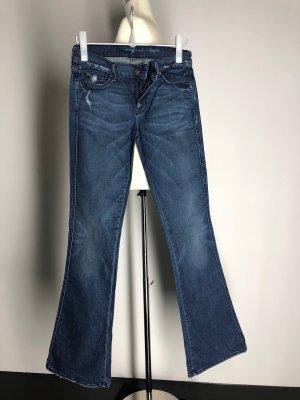 7 For All Mankind Jeans a zampa d'elefante blu Cotone