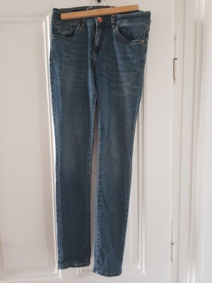 7 For All Mankind Drainpipe Trousers slate-gray-blue