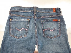 7 for all mankind Jeans mit Swarowski Kristallen Gr. 26