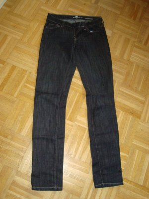7 For All Mankind Skinny Jeans dark blue mixture fibre