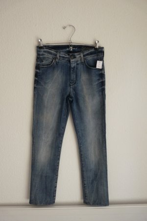 7 for all Mankind Jeans Röhrenjeans XS S 34 *NEU* blau Blogger Fashion Style cool sexy
