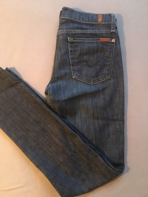 7 For All Mankind Pantalone cinque tasche blu scuro