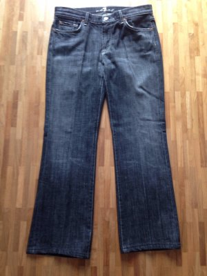 7 for all mankind Jeans, schwarzgrau, Weite 34