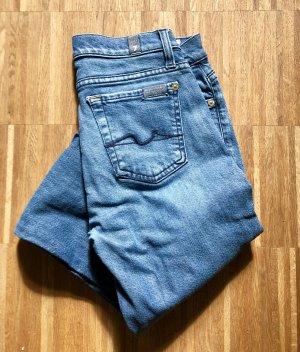 7 For All Mankind Skinny Jeans cornflower blue mixture fibre