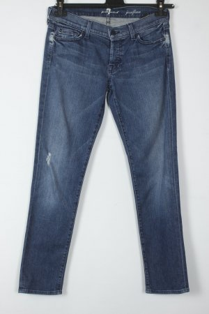 7 For All Mankind Jeans skinny bleu coton