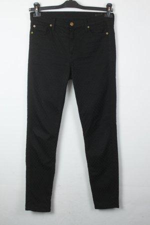 7 For All Mankind Jeans Skinny Gr. 28 schwarz