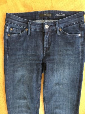 7 For All Mankind Skinny Jeans steel blue cotton