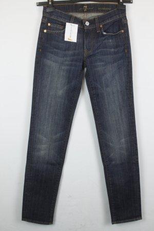 7 For All Mankind Jeans Slim Fit Gr. 24 dunkelblau | Modell: Roxanne