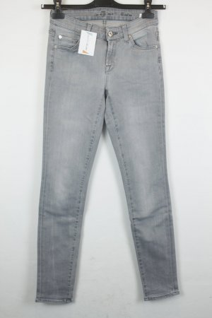 7 For All Mankind Jeans Slim Fit Gr. 26 hellgrau | Modell: Cristen