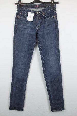 7 For All Mankind Jeans Slim Gr. 25 dunkelblau