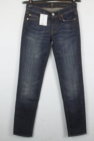 7 For All Mankind Jeans Straight Leg Gr. 26 dunkelblau